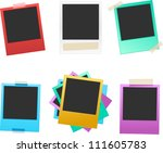 vector colorful photo frame set ... | Shutterstock .eps vector #111605783