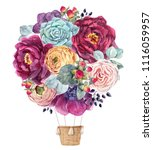 watercolor illustration of a... | Shutterstock . vector #1116059957