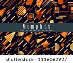 memphis seamless pattern.... | Shutterstock .eps vector #1116062927