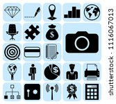 set of 22 business high quality ... | Shutterstock .eps vector #1116067013