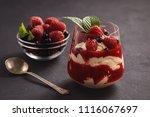 strawberry mascarpone mousse... | Shutterstock . vector #1116067697