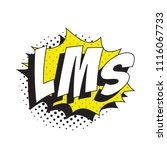 abbreviation lms  like my... | Shutterstock .eps vector #1116067733