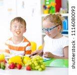at school   students prepare... | Shutterstock . vector #1116080093