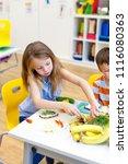 at school   students prepare... | Shutterstock . vector #1116080363