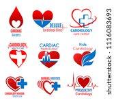 cardiology medicine and cardiac ... | Shutterstock .eps vector #1116083693