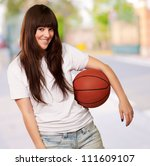 portrait of a young female with ... | Shutterstock . vector #111609107