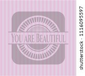 you are beautiful retro style... | Shutterstock .eps vector #1116095597