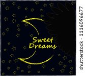 good night and sweet dreams... | Shutterstock .eps vector #1116096677