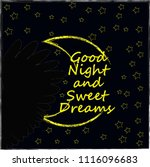 good night and sweet dreams... | Shutterstock .eps vector #1116096683