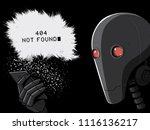 robot and smartphone. 404 error ... | Shutterstock .eps vector #1116136217