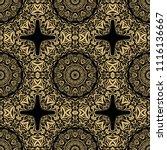 beautiful flower mandala.... | Shutterstock .eps vector #1116136667