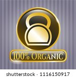 golden emblem or badge with... | Shutterstock .eps vector #1116150917