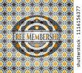 free membership arabesque... | Shutterstock .eps vector #1116156377