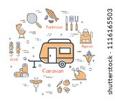 colorful elements of icons in... | Shutterstock .eps vector #1116165503