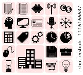 set of 22 business high quality ... | Shutterstock .eps vector #1116166637