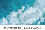 waves on the beach as a... | Shutterstock . vector #1116166937