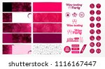 set of banners with textured... | Shutterstock .eps vector #1116167447
