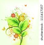 Ink Floral Background. Vector...