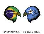 brazil vs somalia | Shutterstock . vector #1116174833
