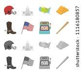cowboy boots  national flag ... | Shutterstock .eps vector #1116180857