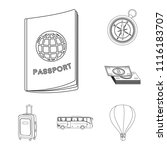 rest and travel outline icons... | Shutterstock .eps vector #1116183707
