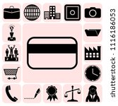 set of 17 business high quality ... | Shutterstock .eps vector #1116186053