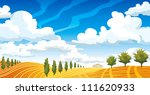 autumn landscape with yellow... | Shutterstock .eps vector #111620933