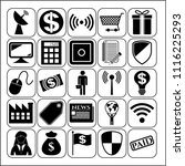 set of 25 business high quality ... | Shutterstock .eps vector #1116225293