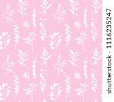 pink floral seamless pattern | Shutterstock . vector #1116235247
