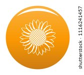 nice sunflower icon. simple... | Shutterstock .eps vector #1116241457