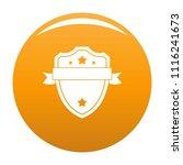 Badge warrior icon. Simple illustration of badge warrior vector icon for any design orange