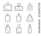 fragrance bottles aroma flavor... | Shutterstock .eps vector #1116241733