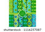 set of seamless abstract vector ...   Shutterstock .eps vector #1116257087