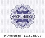 blue rosette or money style... | Shutterstock .eps vector #1116258773