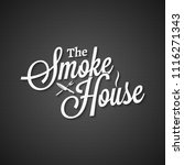smokehouse vintage lettering on ... | Shutterstock .eps vector #1116271343