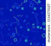 memphis background.  trendy...   Shutterstock .eps vector #1116273107