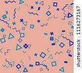 memphis background.  abstract...   Shutterstock .eps vector #1116273167