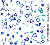 memphis background.  vintage...   Shutterstock .eps vector #1116273203