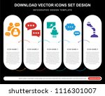 5 vector icons such as... | Shutterstock .eps vector #1116301007