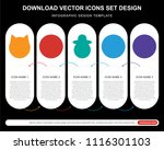 5 vector icons such as cat ...   Shutterstock .eps vector #1116301103