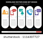5 vector icons such as talk ... | Shutterstock .eps vector #1116307727