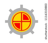 target aim icon  vector target... | Shutterstock .eps vector #1116310883