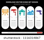 5 vector icons such as gauge ... | Shutterstock .eps vector #1116314867