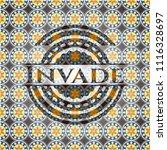 invade arabesque style badge....   Shutterstock .eps vector #1116328697