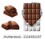 vector 3d realistic chocolate...   Shutterstock .eps vector #1116331157