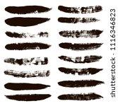 black brush strokes set... | Shutterstock .eps vector #1116346823