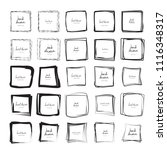 hand drawn ink line squares... | Shutterstock .eps vector #1116348317