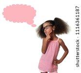 cute african american small... | Shutterstock . vector #1116361187