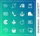 modern  simple vector icon set... | Shutterstock .eps vector #1116367577