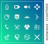 modern  simple vector icon set... | Shutterstock .eps vector #1116370433